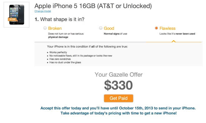 Gazelle locks iPhone trade-in prices through October 15