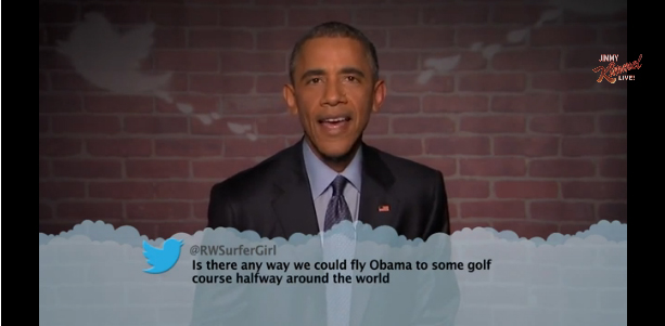 President Obama Appears On Jimmy Kimmel Live And Reads Mean Tweets