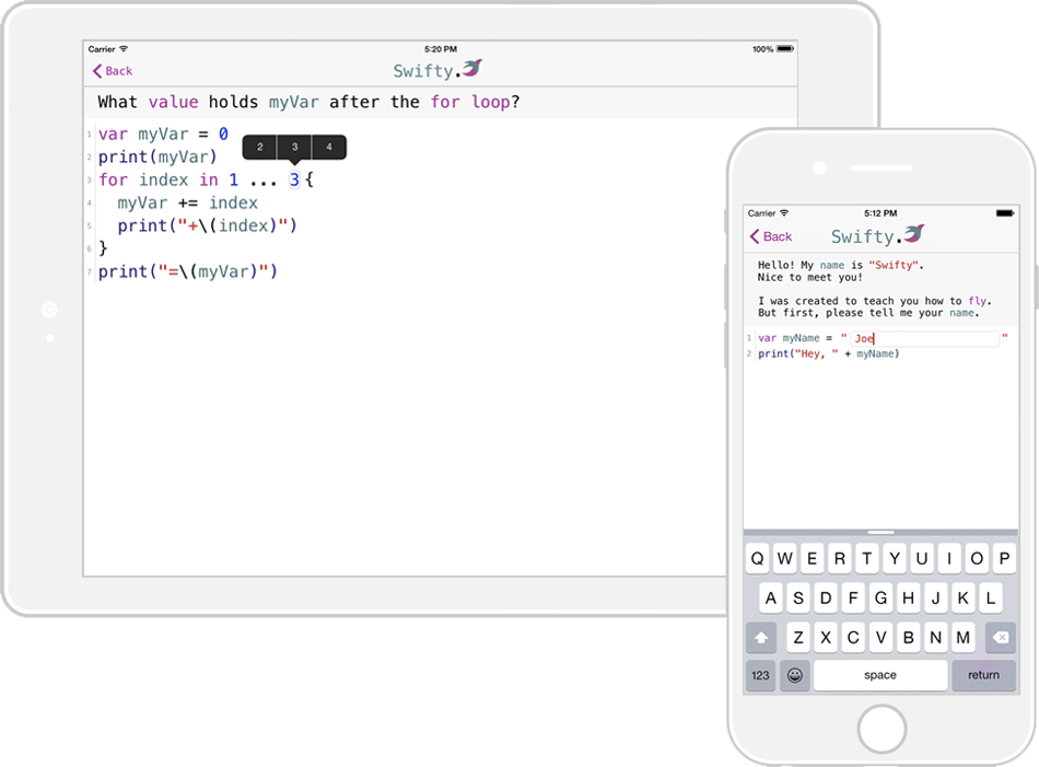 Swifty helps we learn to formula in Swift directly from your iPhone