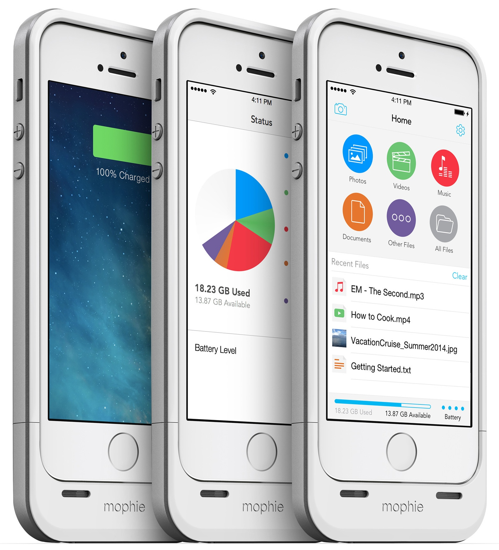 Mophie adds 64GB choice to Space Pack battery box for iPhone 5/5s
