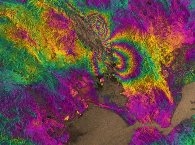 3D satellite, GPS earthquake maps isolate impacts in real time