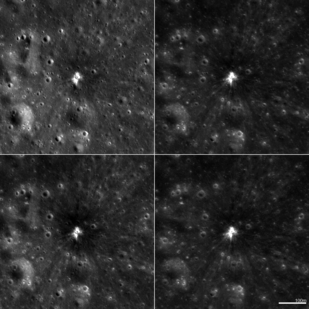 LROC images reveal intricate details of lunar impacts